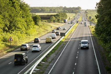 The A64 in North Yorkshire.