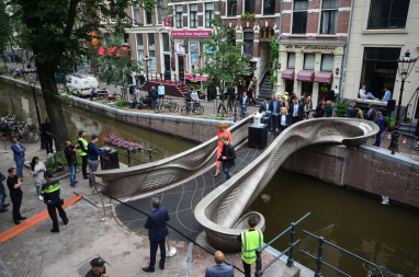 The opening of the smart bridge in Amsterdam by the Queen of the Netherlands. PHOTO: AdriaandeGroot.