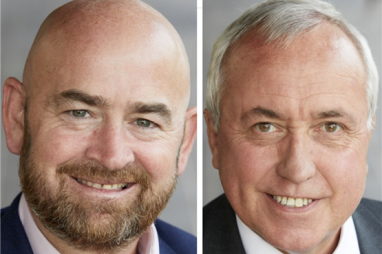 Adrian Savory, pictured left, is stepping down as BAM Nuttall chief executive. Ian Parish, pictured right, has been appointed interim managing director.