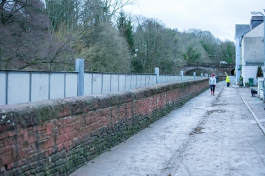 The self activating flood barrier protecting properties in Cockermouth