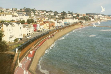 Dawlish sea wall. Artist impression