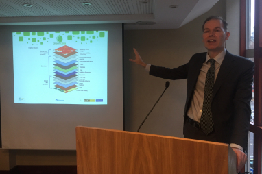 Matthew Farrow, director of the Environmental Industries Commission, speaking at the Green Data conference on 27 November 2018.