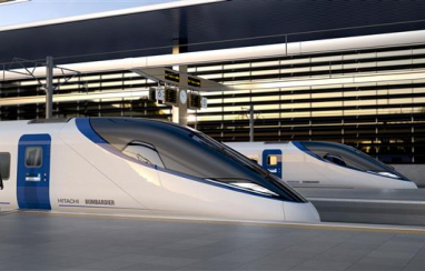 The first image of the proposed Hitachi Bombardier high speed train design for HS2.