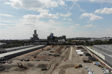 Major demolition milestone at HS2's Old Oak Common site, as Great Western sheds cleared.