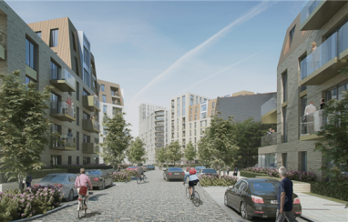 How the new social housing in Havering, east London, will look when completed.