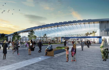 CGI of Old Oak Common station when complete.