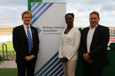 Pictured left to right: David Westcough, YRP chair, London assembly transport committee chair Florence Eshalomi, and Darren Caplan, RIA chief executive.