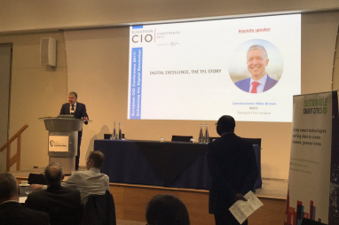 TfL commissioner Mike Brown speaking at the European CIO Conference 2017 in London.