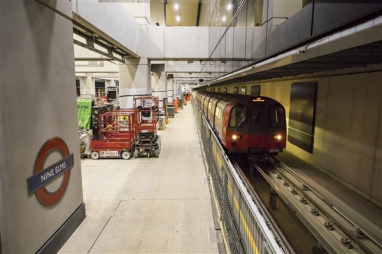 Trial journeys made ahead of the tube extension's scheduled opening later this year.
