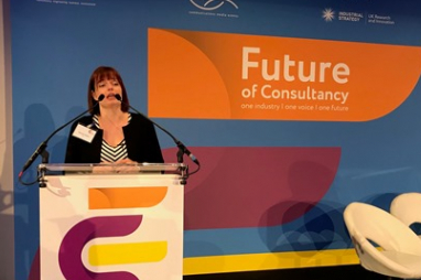 ACE chief executive, Hannah Vickers, opening the Future of Consultancy conference in London on 6 June 2019.
