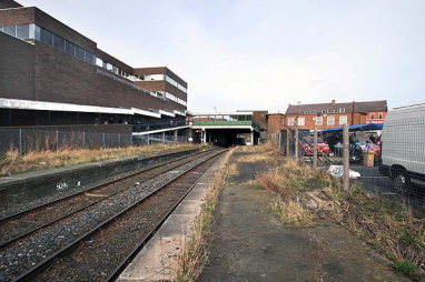 Ashington station, which has been closed since 1964.