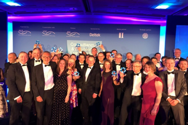 Winners of the 2019 Consultancy & Engineering Awards celebrate their success.