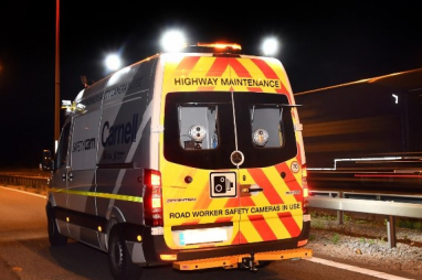 A SafetyCam vehicle, a previous winner of a Highways England award.