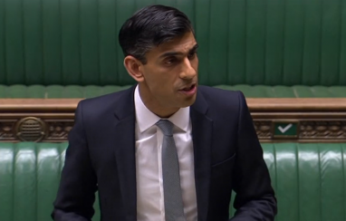 The chancellor Rishi Sunak delivering his summer statement in parliament on 8 July 2020.