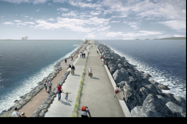 The Swansea Bay tidal lagoon project, which has been scrapped by the government.