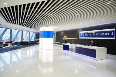 Turner & Townsend's London office reception.