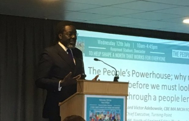 """""""The future is about the things that we don't talk about"""" - Victor Adebowale, chief executive of Turning Point."""