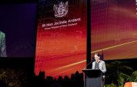 Prime minister of New Zealand, Jacinda Arden, speaking at Building Nations 2018.
