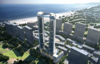 Cocobay Towers, the Atkins-designed architectural icon for Da Nang, Vietnam.