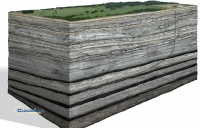 Shale gas is contained in rock at around 3000m below ground level