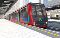 CGI of the new DLR trains.