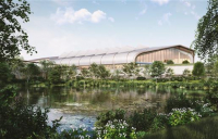 View from the lake. HS2 are inviting bidders to compete for £370m contract to build its Birmingham Interchange station.