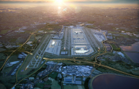 CGI image shows what an expanded Heathrow could look like.