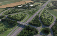 Britain's biggest road-building project, the £1.5bn A14 Cambridge to Huntingdon scheme, is opening for traffic eight months ahead of schedule.