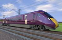 CGI of the new Hitachi trains for East Midlands Railway.