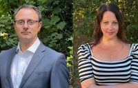Mark Anders and Lizz Robinson, pictured l-r, have joined Mace following a major Highways England win.
