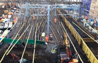All four tracks into King's Cross have been lifted for the first time in 40 years to allow sewer reconstruction.