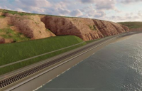 Artist's impression of Network Rail's proposed new work in south Devon.