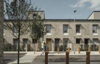 Scape Group calls for ambitious renewal of council housebuilding. Photo shows RIBA Stirling Prize Award-winning council housing in Goldsmith Street, Norwich.