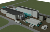 CGI of the proposed Whitetail clean energy power plant at Wilton International, Teesside.