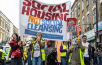 Local people demonstrating against the now scrapped Haringey Development Vehicle scheme.