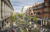 Proposals to pedestrianise Oxford Street were abandoned due to political pressure.
